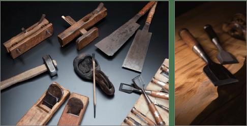 「奥谷組ならではの建築儀式のための工匠道具」